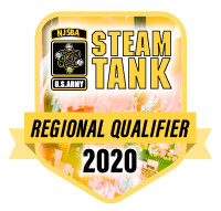 This badge indicates that our team has advanced to the STEAM Tank regional competition.