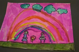 painting from second grade June 2014